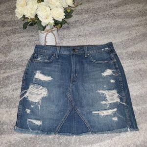 Very stylish 😍 new jean distressed skirt👍
